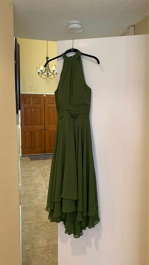 Olive Green Halter Dress for Sale in Ontario, CA