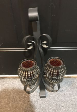 Black iron candle holder for Sale in Nashville, TN