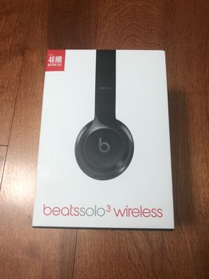 Beats Solo3 Wireless Bluetooth Headphones Black for Sale in Washington, DC