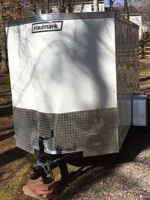 Enclosed 10x8 trailer in great shape. No leaks, ramp rear door with opening assist. Side door with double-dead bolt key locks . 2 keys for Sale in Rockville, MD