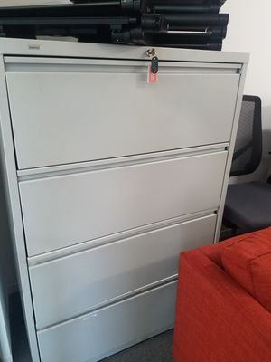 Large 4 Drawer File Cabinet for Sale in Cambridge, MA