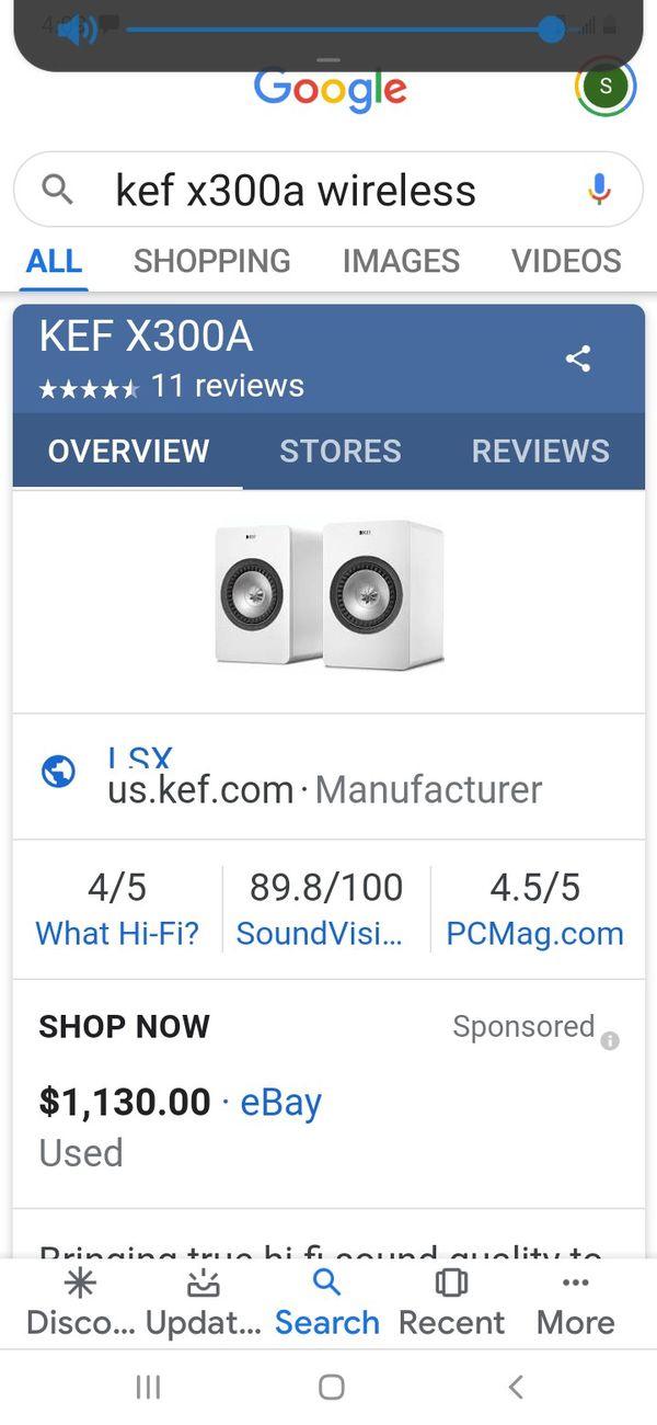 Kef blue tooth speakers