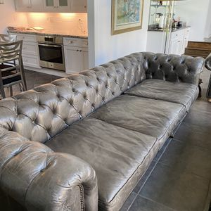 Restoration Hardware Leather Sofa for Sale in Pittsburgh, PA
