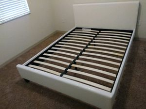 $225 Queen bed frame brand new free delivery same day for Sale in Hollywood, FL