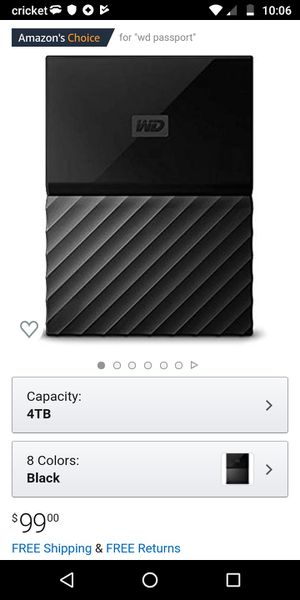 -NEW-Portable universal 4terabyte hard drive for Sale in Franklin, IN