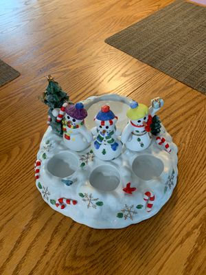Christmas Party lite Snowbell Tealight/Pillar Holder for Sale in Portland, OR