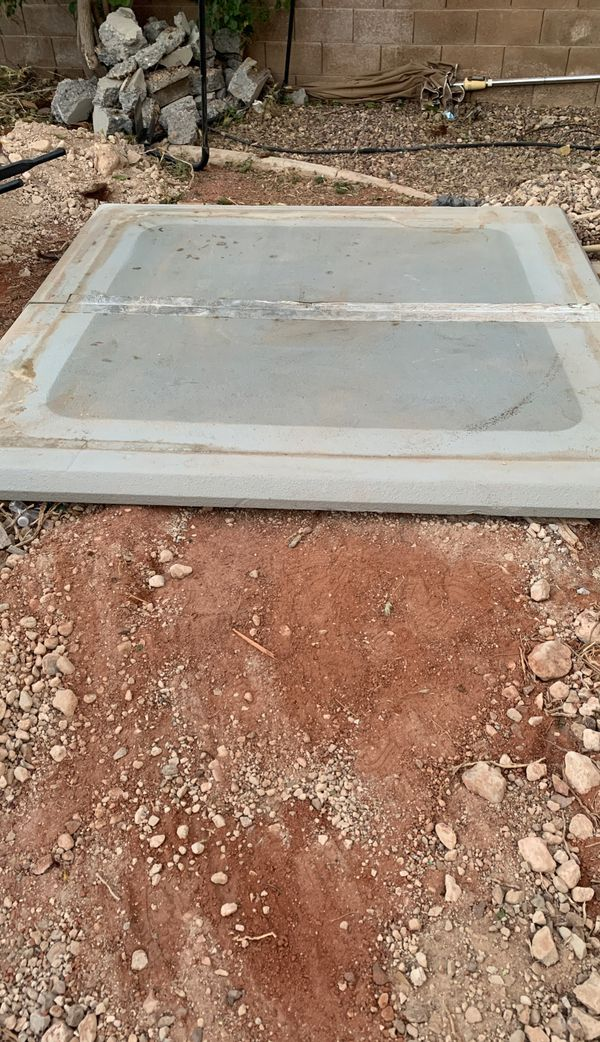 7x7 hot tub ground pad.