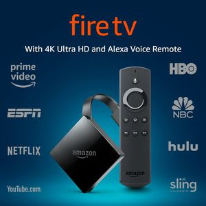 Amazon - Fire TV with 4K Ultra HD and Alexa Voice Remote - Black $55/OBO for Sale in Atlanta, GA