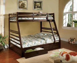 Espresso Twin/Full Bunk Bed for Sale in Fresno, CA
