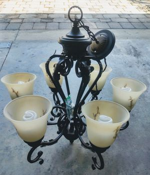 Gorgeous Dark Brass Hanging Light Fixture Chandelier for Sale in Lake Mary, FL