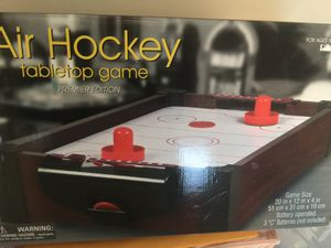 NEW in original box Air hockey table top[ GAME Fun for all Ages !! just needs a battery .. for Sale in Northfield, OH
