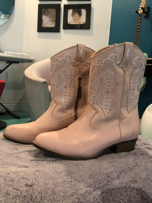 Cute girls pink cowboy boots size 3 for Sale in Mesa, AZ