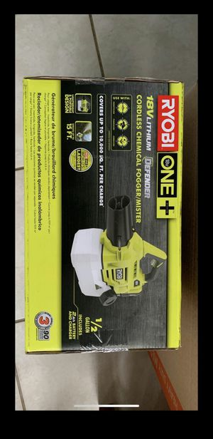 Ryobi fogger mister disenfectant with batettery and charger P280 for Sale in Peachtree City, GA