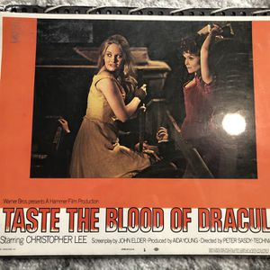 1970 Original Taste The Blood Of Dracula Horror Movie Lobby Card #1 Christopher Lee for Sale in Keizer, OR