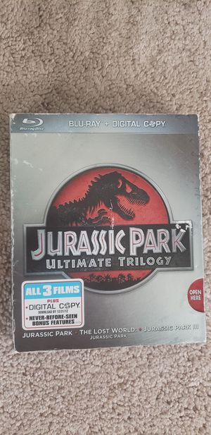 Jurassic Park Trilogy Blu-Ray Collection for Sale in Glendale, CA