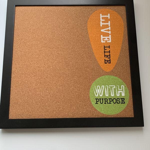 Chalkboard 11x12.5 And Corkboard 12x12 Like New