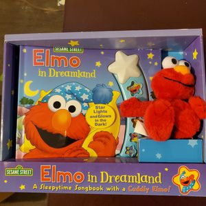 Elmo Bedtime Book With Plush Toy for Sale in Dublin, OH