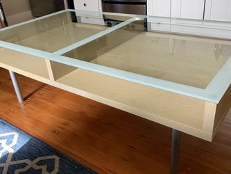 80s Style Glass + Wood Table for Sale in Portland,  OR