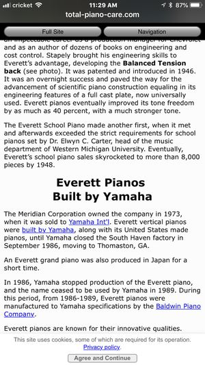 Everett studio piano build by Yamaha for Sale in Philadelphia, PA