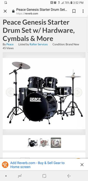 Peace Genesis 5 piece drum set for Sale in Denver, CO