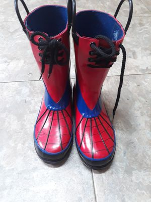 Exclusive Spiderman rain boots for Sale in Virginia Beach, VA