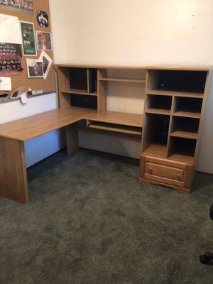 Wooden L Desk for Sale in Ben Lomond, CA