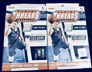 2018 2019 Panini Threads NBA Box!!! Luka Doncic Rookie Card?!?! EXCLUSIVE!!! GET EM B4 GONE!!! for Sale in Dallas, TX