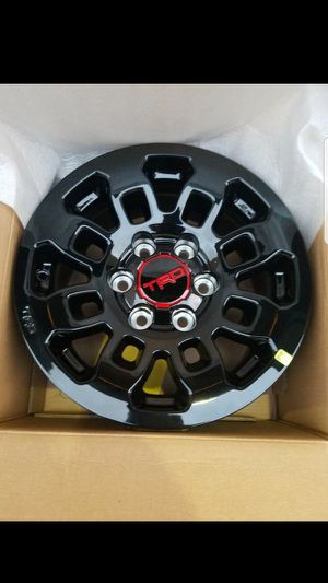 TRD STYLE BLACK RIMS (4 for $600) 17x8 for Sale in Whittier, CA