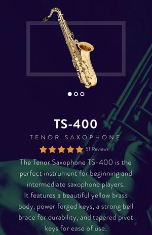 NEW Tenor saxophone TS-400 for Sale in Chicago, IL