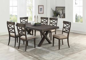 NEW IN THE BOX. 7PC WIRE BRUSHED DINING ROOM SET, SKU# TC7811 for Sale in Fountain Valley, CA