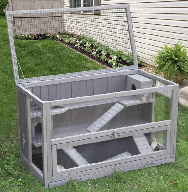Upgraded 3 Tier Hamster Cage, Guinea Pig Habitat with Chewing Toy,Hideout,Seesaws,Food Bowl, Ferret House-Leak Proof Plastic Tray