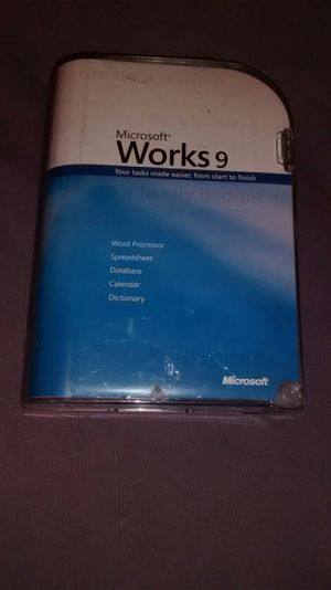 Microsoft Works 9 for Sale in Perris, CA