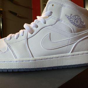 Jordan 1 Mids Pure White for Sale in Oklahoma City, OK