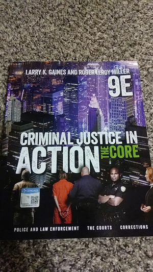 Criminal Justice in Action the Core 9E for Sale in Manteca, CA
