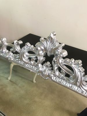 Beautiful large metallic silver mirror for Sale in Purcellville, VA