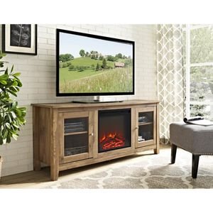 Walker Edison 58-in. Wood Media TV Stand Console with Fireplace. A4-9770 for Sale in St. Louis, MO