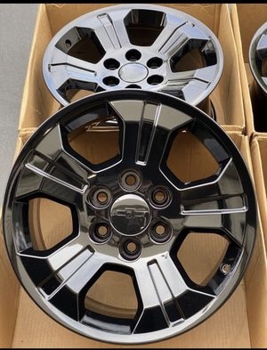 "18"" Chevy Factory Rims Silverado /Tahoe/Suburban Black Powder Coat New for Sale in Pico Rivera, CA"