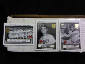 Mint Topps 1952 world series set Brooklyn Dodgers set for Sale in Montrose, CO