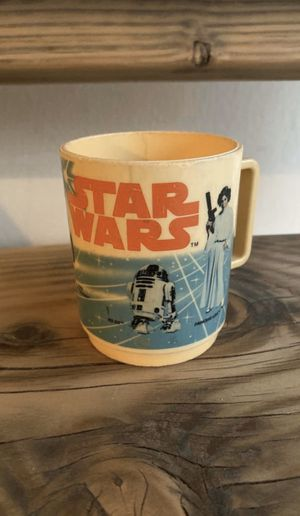 Star Wars Plastic Cup Mug 1977 Twentieth Century FOX- Deka - Vintage - R2D2 - C3PO - Darth Vader for Sale in Gilbert, AZ