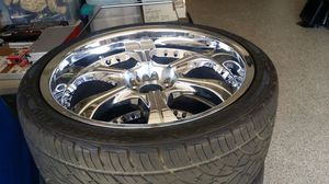 """22 """" Wheels take off tires for a Dodge Charger, Challenger, Viper for Sale in Rancho Cucamonga, CA"""