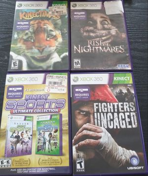 Xbox 360 kinect with 4 games $50 for Sale in Cranston, RI