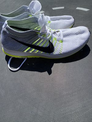 Nike Flyknit Streak Size 11.5 Running Shoes Volt White Gray Men's for Sale in El Paso, TX