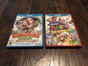 Nintendo Wii U Video Games - Super Mario + Donkey Kong for Sale in Alafaya, FL