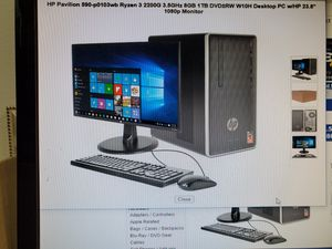 23.8' SCREEN MONITOR HP COMPLETE DESKTOP COMPUTER 8GIGS RAM ICORE 5 . BRAND NEW SEALED BOX for Sale in Los Angeles, CA