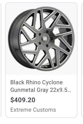 Black rhino rims and tires