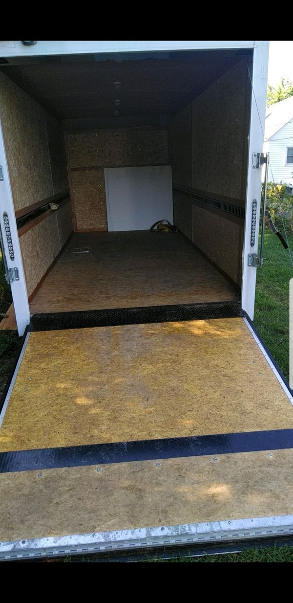 6 by 14 double Axel enclosed trailer