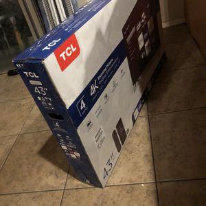 4k TLC 43inch tv for Sale in AZ, US