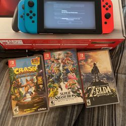 Nintendo Switch With 3 Games Great Conditions  for Sale in Orange, CA