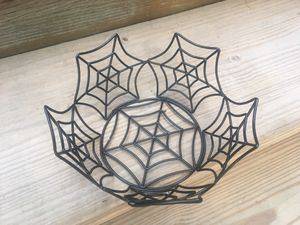 Black Metal Spiderweb Bowl - 8 x 4 - Like New for Sale in Chicago, IL