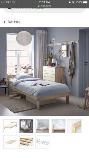 BRAND NEW IKEA TWIN BED, pine for Sale in Burlington, MA